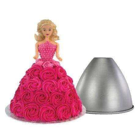 topo de bolo boneca loira cabelos presos