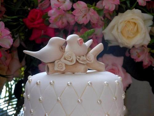 topo de bolo casamento lovebirds, pombinhos, casamentos