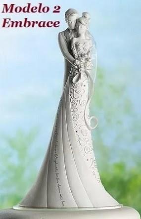 topo de bolo casamento noivinhos kiss embrace first dance