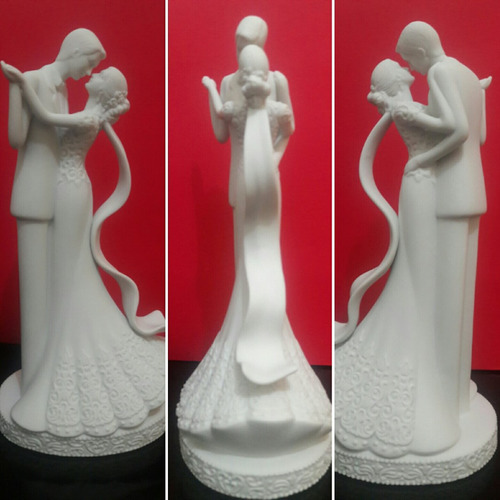 topo de bolo casamento noivinhos porcelana - frete gratis