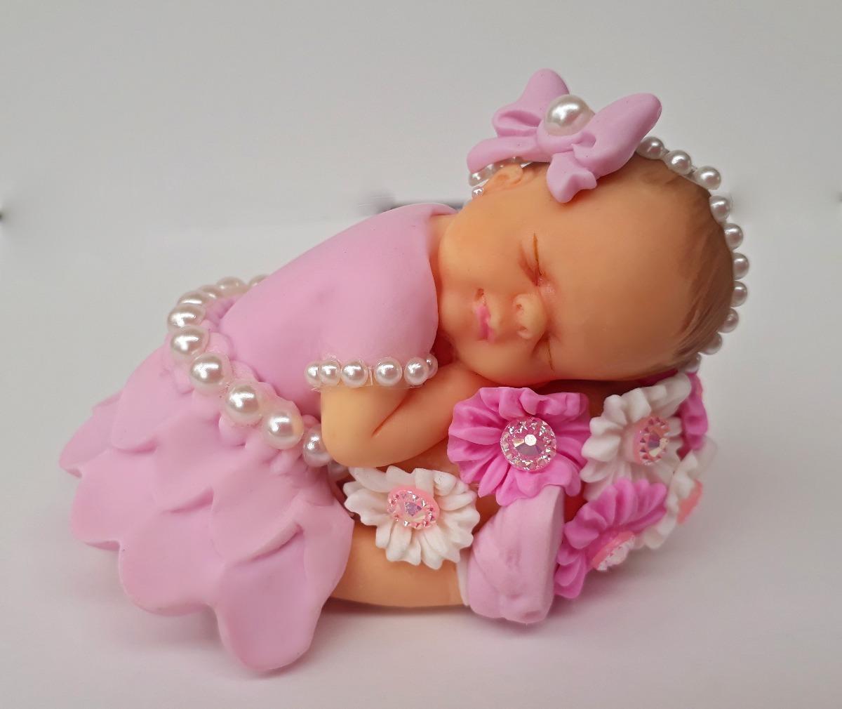 Topo De Bolo Chá De Bebê Menina Com Flores R 4560 Em Mercado Livre