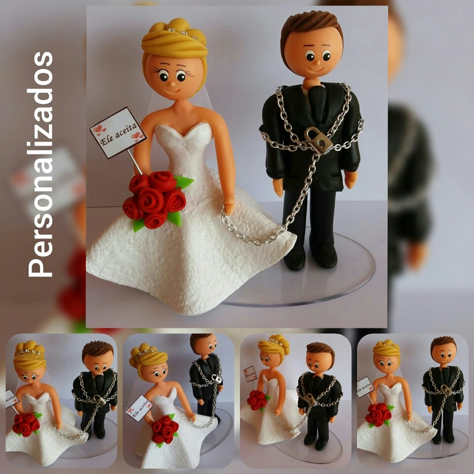 Topo De Bolo De Biscuit Personalizado Casamento Casal Barato - R  59 ... 27c03f5d9af