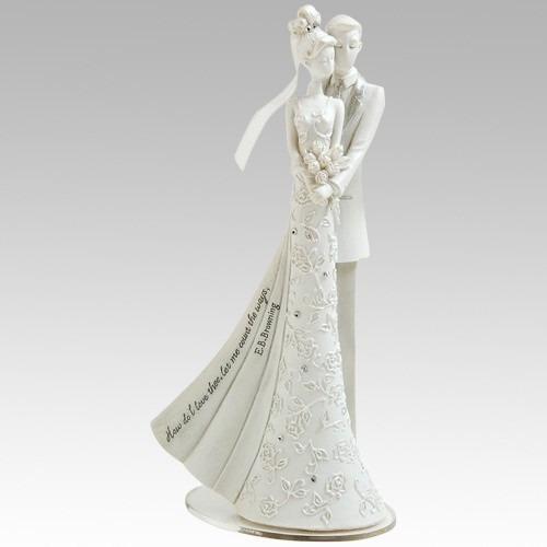 topo de bolo de casamento - casal de noivinhos gina freehill