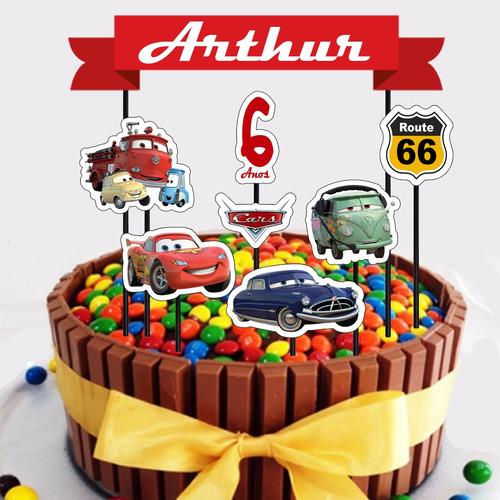 topo de bolo do carros (arquivo digital) topper/aniversário