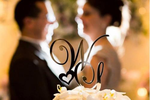 topo de bolo em acrílico espelhado! corte a laser,casamento.