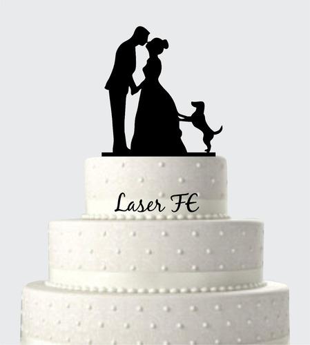 topo de bolo em acrílico silhueta 18! casamento.