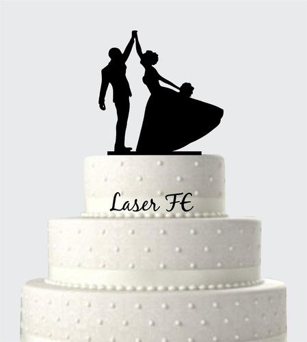 topo de bolo em acrílico silhueta 20! casamento.