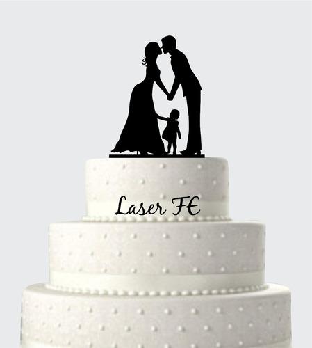 topo de bolo em acrílico silhueta 25! casamento.