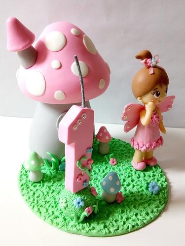 topo de bolo jardim encantado biscuit