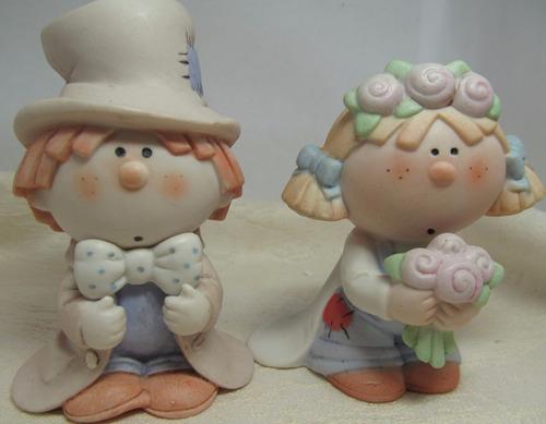 topo de bolo para casamento em porcelana fina