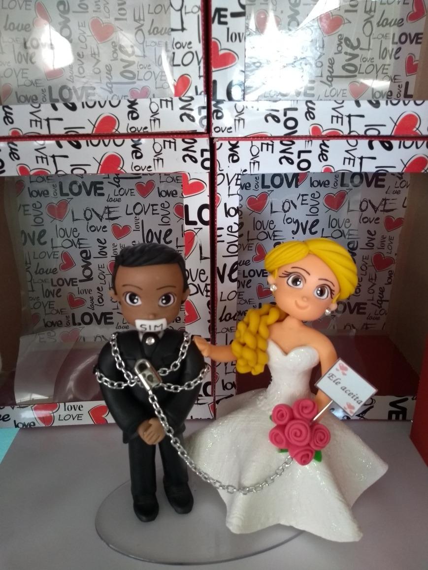 Topo De Bolo Personalizado Casamento Barato Casal - R  119 03cb4510c2d