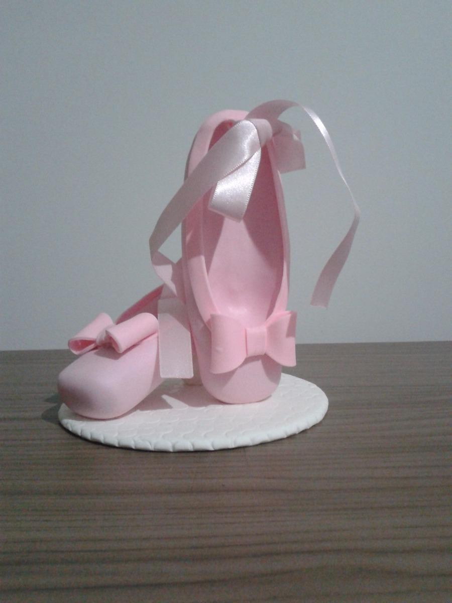 9bb3437677 topo de bolo sapatilha de bailarina em biscuit. Carregando zoom.