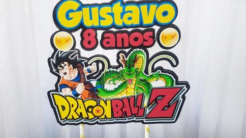 topo de bolo topper personalizado dragon ball z