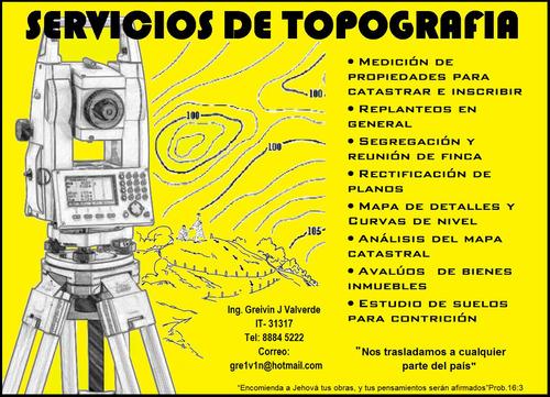 topografia, servicios de topografia en general