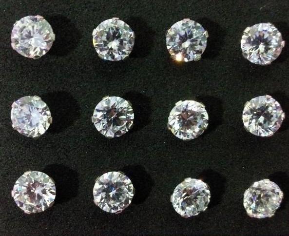 de7468833e43 Topos En Diamantes Para Hombre Plata Diamante Sintetico -   7.990 en Mercado  Libre