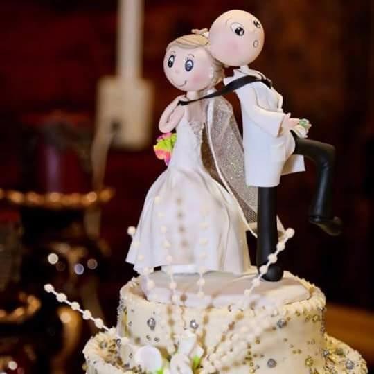 topper cake, novios para pastel de bodas personalizados - $ 349.00