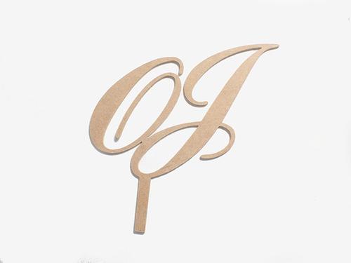 topper de letras - bodas - fiestas - recuerdos madera