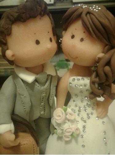 topper figura porcelanicron torta de boda - matrimonio