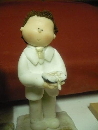 topper figura porcelanicron torta primera comunion y bautizo
