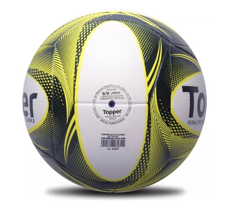 Bola Topper Slick Oficial Futebol + Bomba Ar Encher - R  64 809ffe592d693