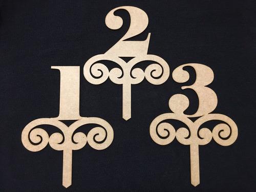 topper letras y números en mdf 3mm corte láser