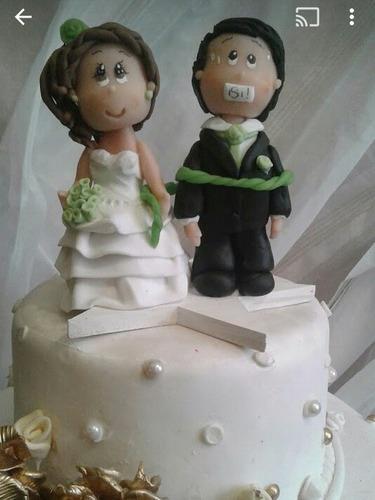topper novios personalizado porcelanicron  boda figura torta