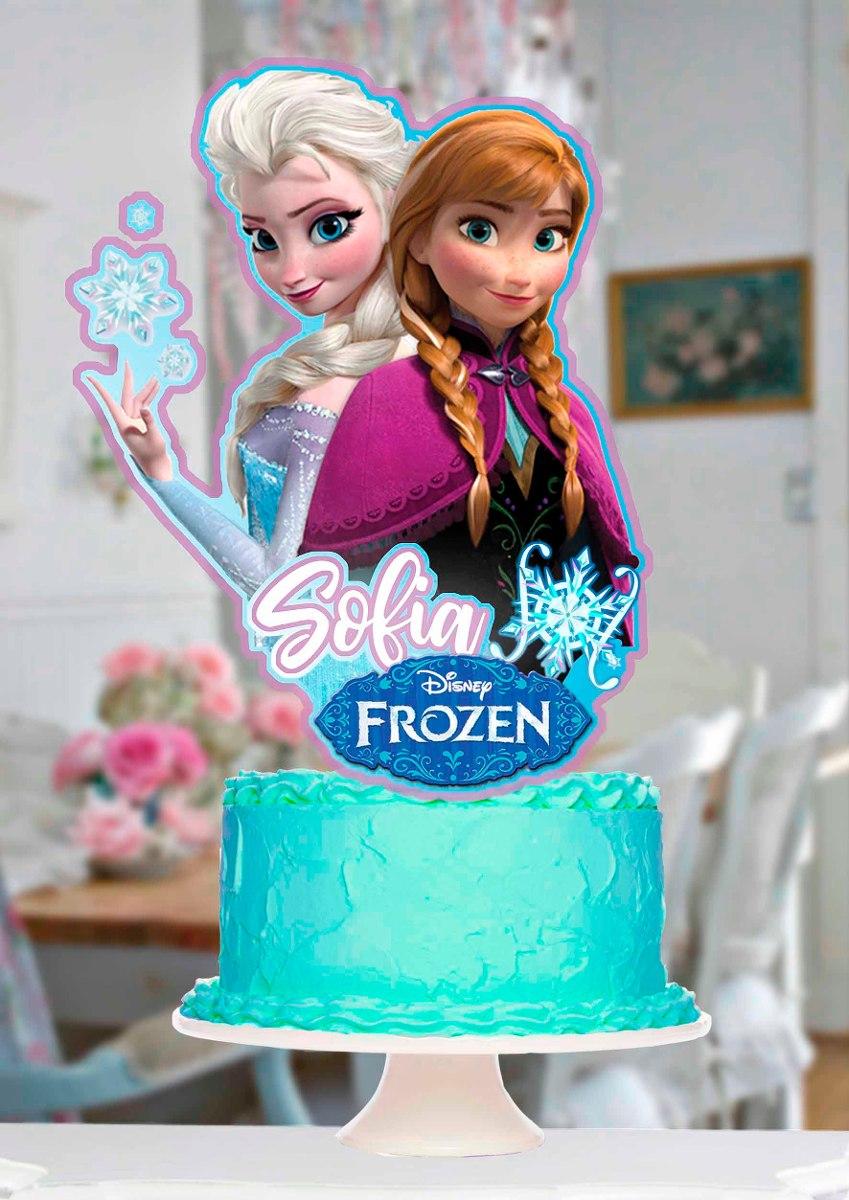 Topper Para Torta Y Cupcake Kit Frozen Elsa Frozen Fever