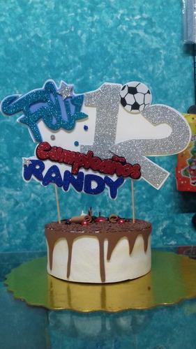 topper para tortas cumpleaños personalizados habladores.