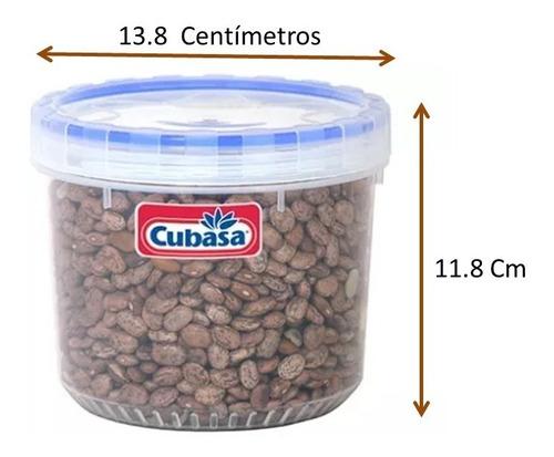 topper recipiente hermético taparosca 5 piezas cap. 1.2 lt