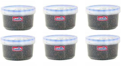 topper recipiente hermético taparosca 6 piezas cap. 900 ml