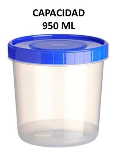 topper recipiente redondo con taparosca 6 piezas cap. 950 ml
