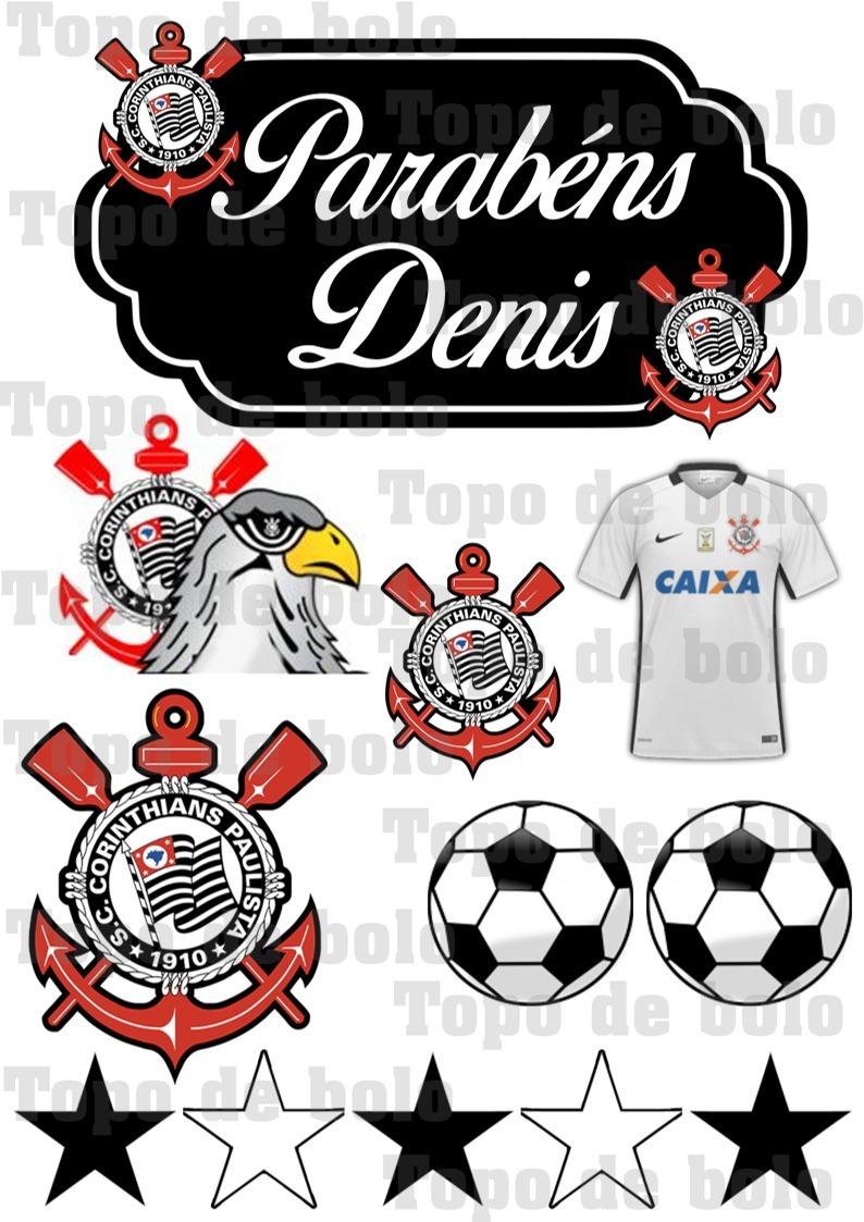 Topper Topo De Bolo Scrap Corinthians Para Imprimir R 14 00 Em