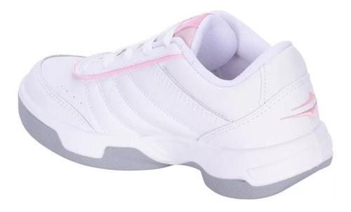 topper zapatilla tenis mujer lady tie break iii bco/rosa
