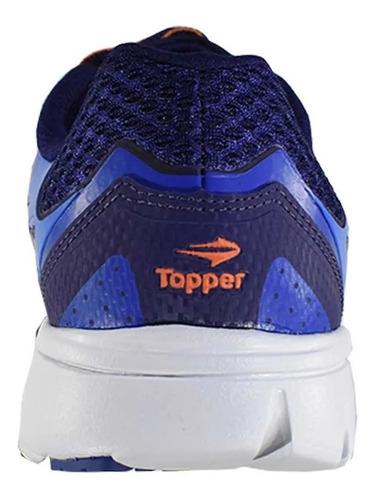 topper zapatillas running hombre top motion azul - blanco