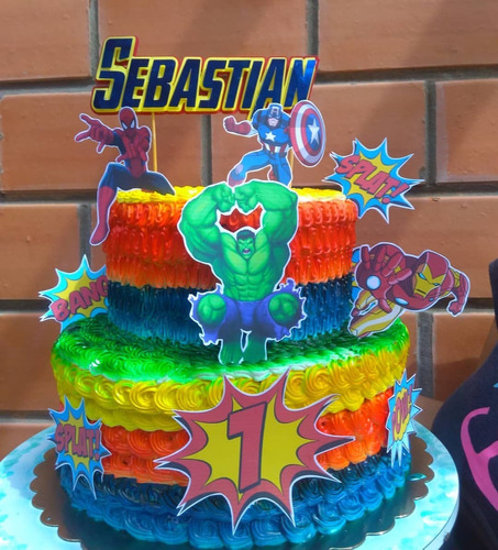 toppers  de torta piñata cortina de papcombo fiesta infantil
