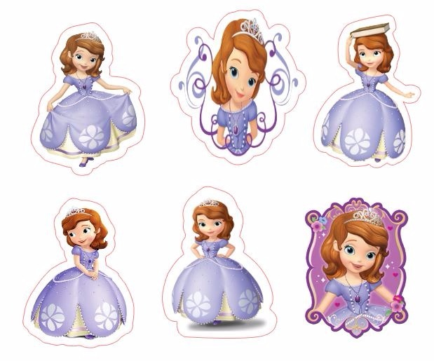 Sofia The First Tiara Cake Topper