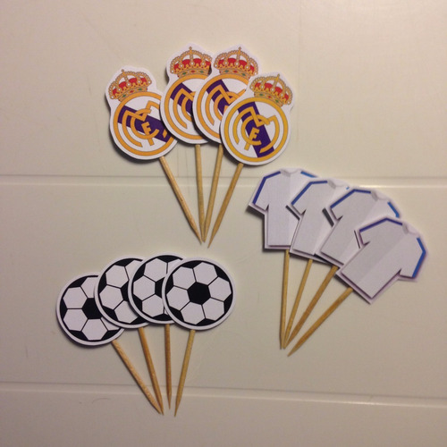 toppers postre futbol real madrid (docena)