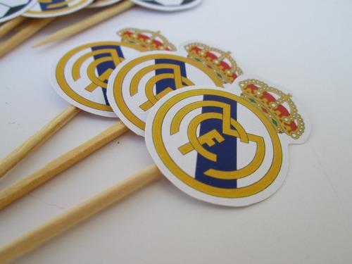 toppers postre futbol real madrid (docena)
