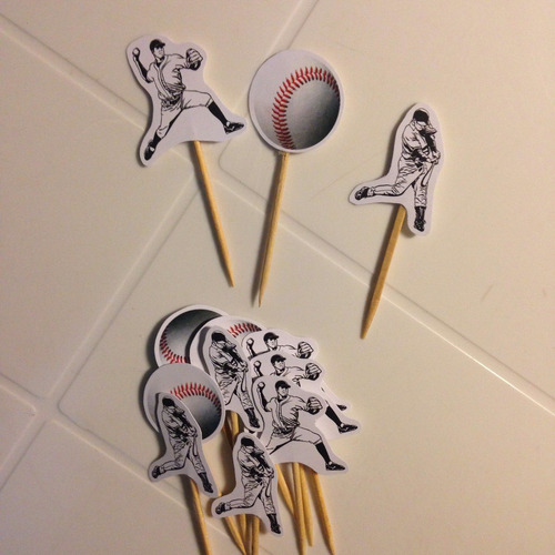 toppers postres beisbol baseball (docena)