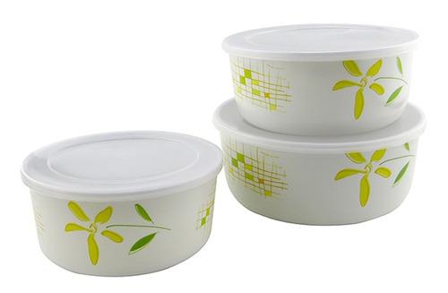 toppers recipiente redondo melamina 3 piezas