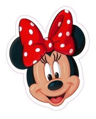 Toppers Tags Minnie Vermelha Rosto 100 Un Frete Gratis R