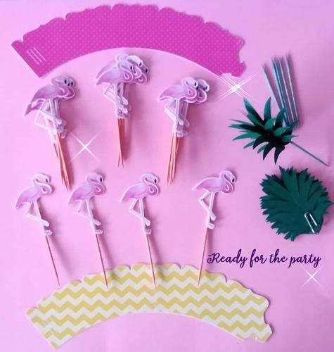 toppers y capacillos personalizados, kit completo fiesta