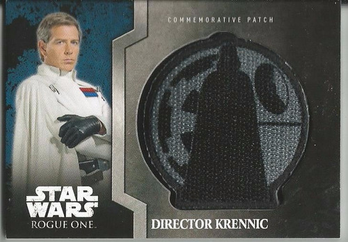 topps star wars rogue one commemorative patch direct krennic