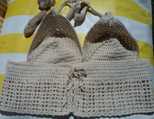 tops artesanales en crochet en hilo algodón italiano.tall xl