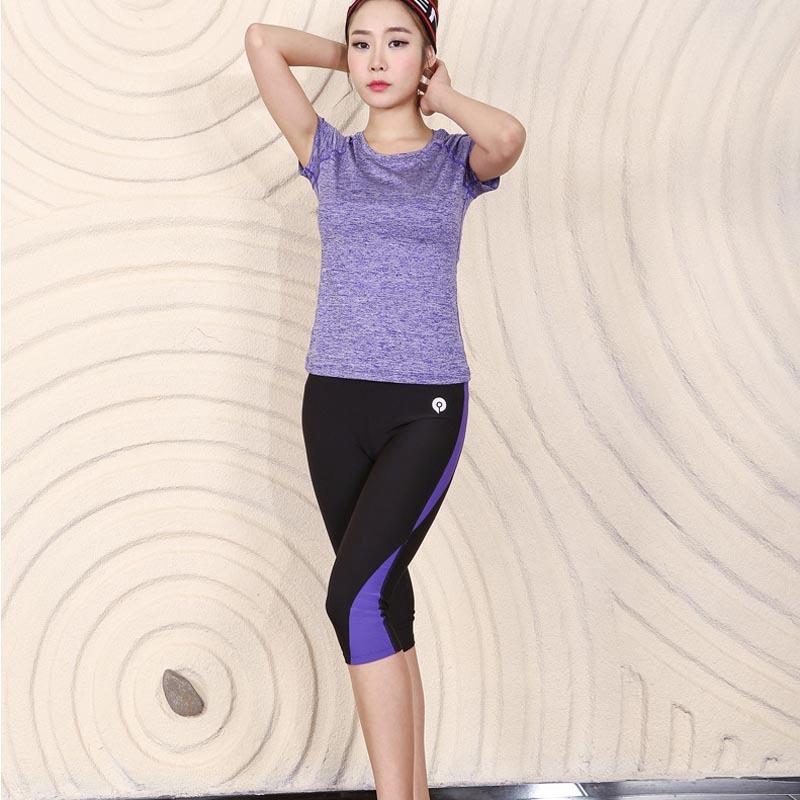 tops+cortos) Mujeres Deportiva De Yoga Camisetas Pantalones ... 92330ba67c03