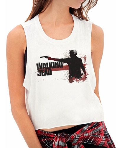 tops estampados personalizados the walking dead1 mujer