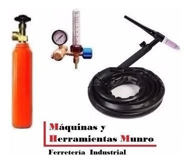 torcha tig robinete perno 13mm+ tubo argon 1/2mt3+ regulador