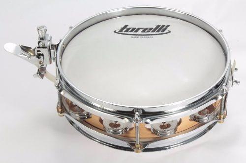 torelli slap snare caixa esteira e platinelas 10 x 3 tcp 08
