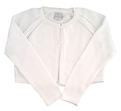 torera calada para niñas de hilo color blanco-marca pompas