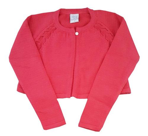 torera calada para niñas de hilo color coral-marca pompas